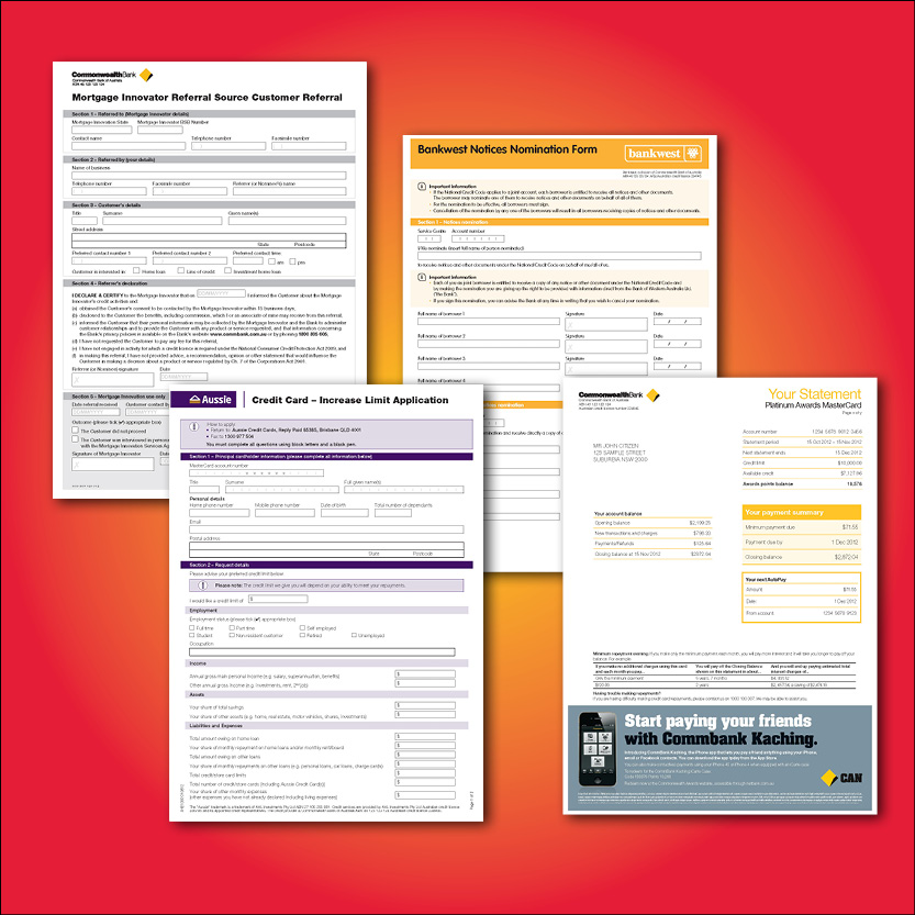 Print based and interactive forms